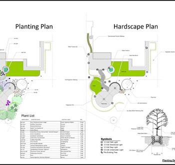 Hardscape landscape plans