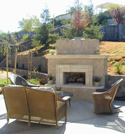 Outdoor Fireplace Landscaper